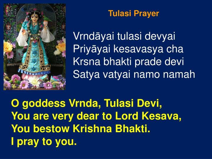 Tulasi Prayer