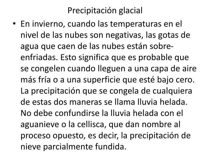 Precipitación glacial