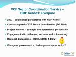 vcf sector co ordination service hmp kennet liverpool