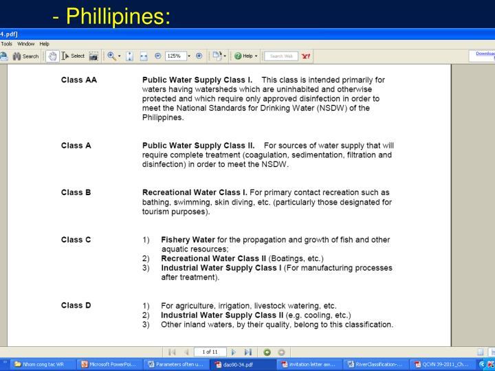- Phillipines: