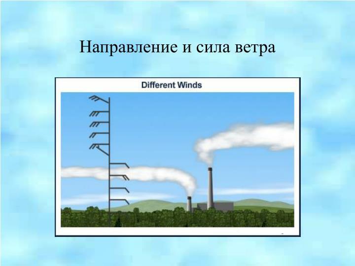 Направление и сила ветра