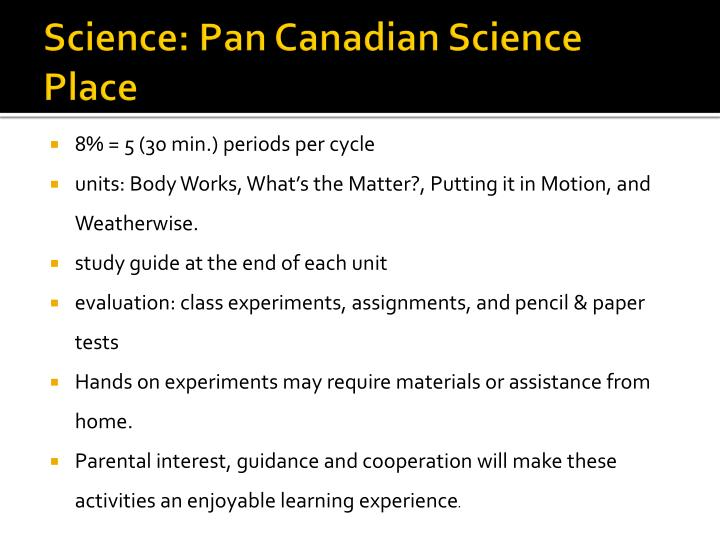 Science: Pan Canadian Science Place
