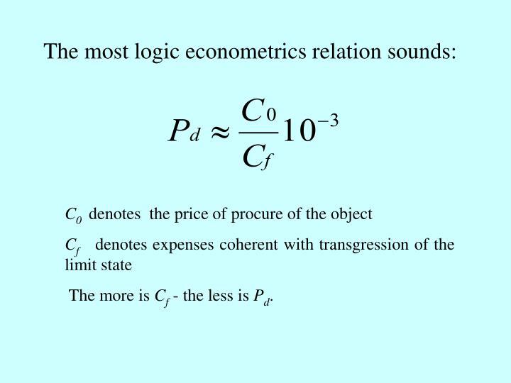 The most logic econometrics relation sounds