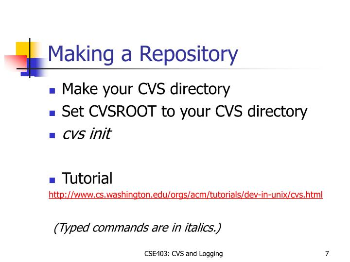 Making a Repository