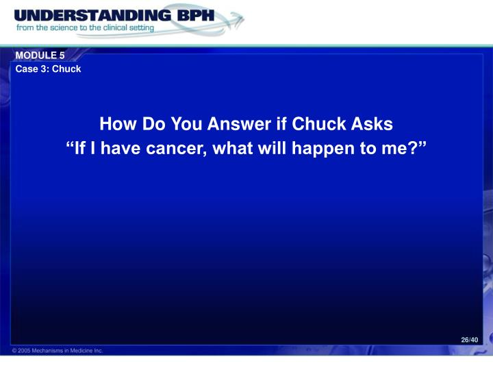 How Do You Answer if Chuck Asks