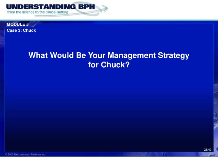 What Would Be Your Management Strategy
