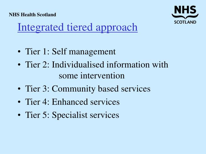Integrated tiered approach