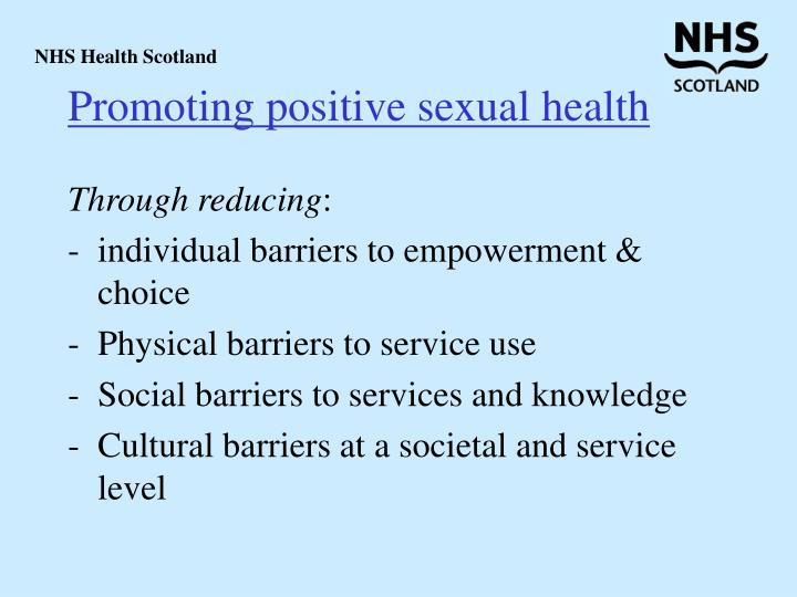 Promoting positive sexual health