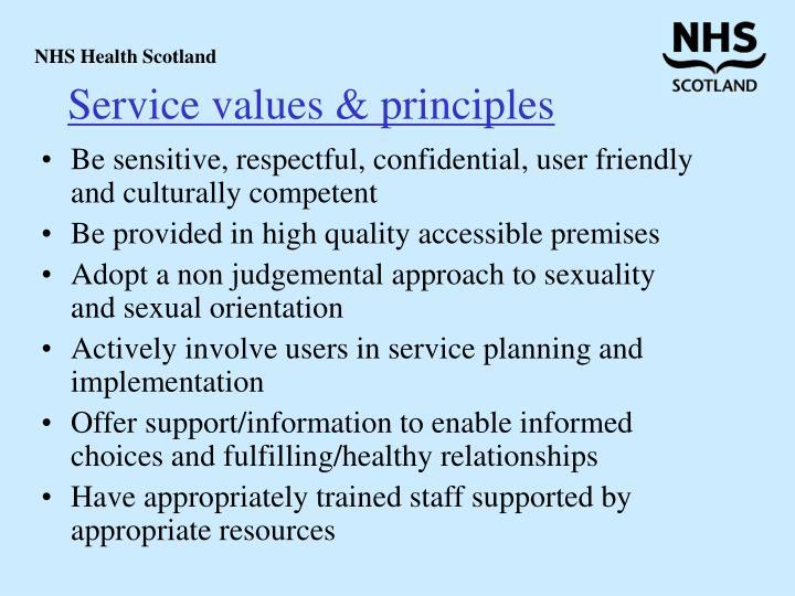 Service values & principles