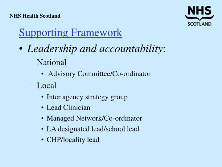 Supporting Framework