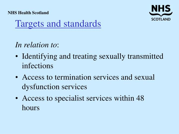 Targets and standards