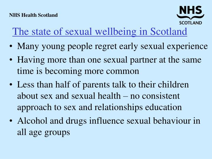 The state of sexual wellbeing in Scotland