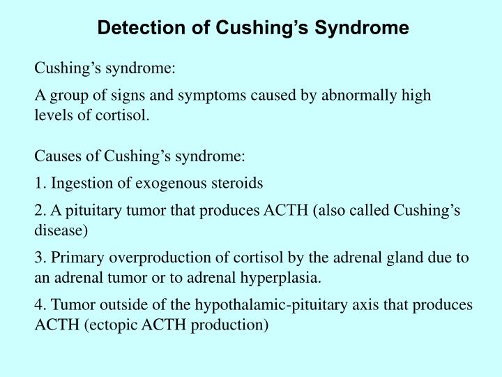 Detection of Cushing's Syndrome