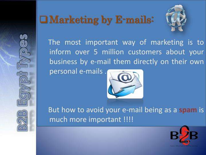 Marketing by E-mails: