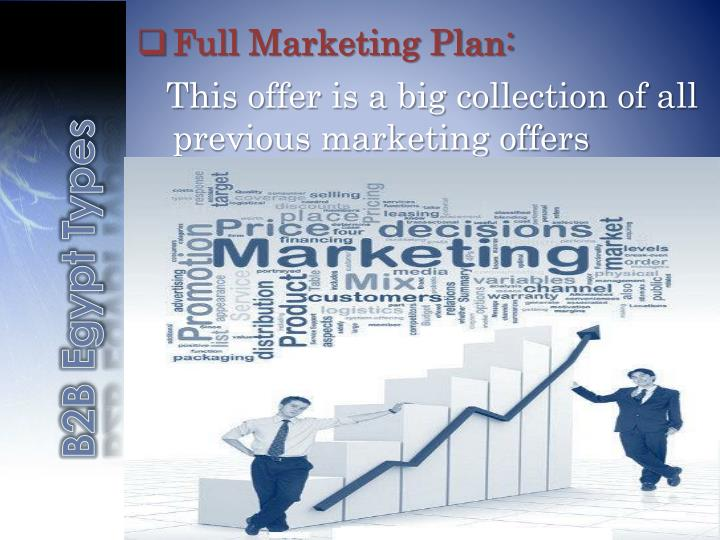 Full Marketing Plan:
