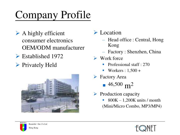 A highly efficient consumer electronics OEM/ODM manufacturer