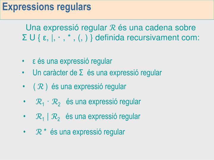 Expressions regulars