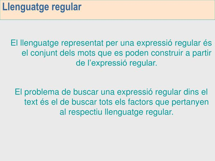 Llenguatge regular
