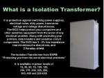 what is a isolation transformer