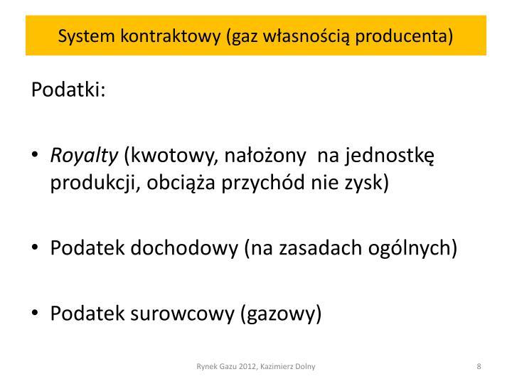 System kontraktowy (gaz własnością producenta)