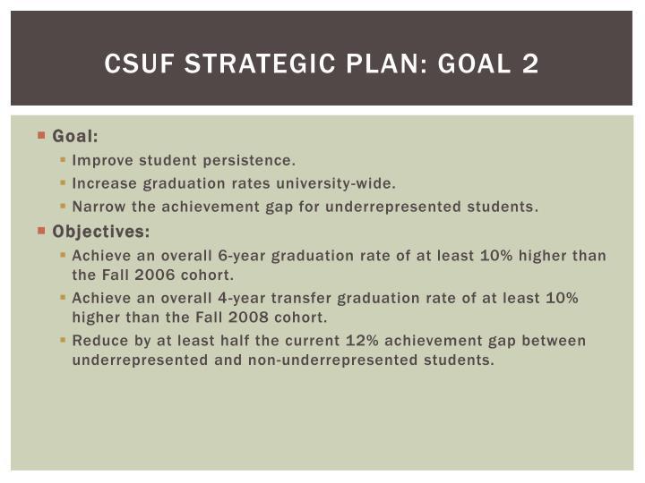 CSUF Strategic Plan: Goal