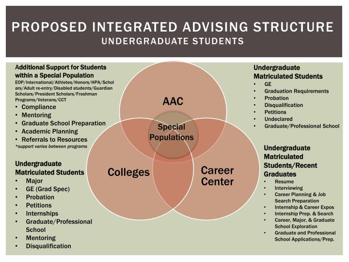 Proposed Integrated Advising Structure