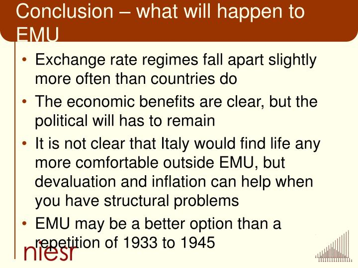Conclusion – what will happen to EMU