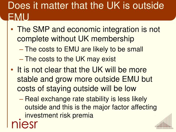 Does it matter that the UK is outside EMU