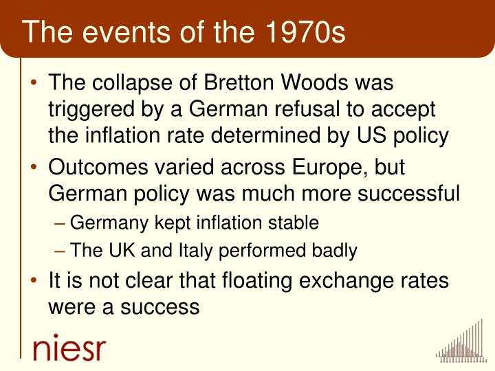 The events of the 1970s