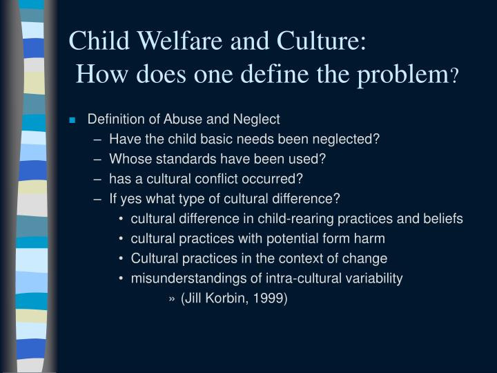 Child Welfare and Culture: