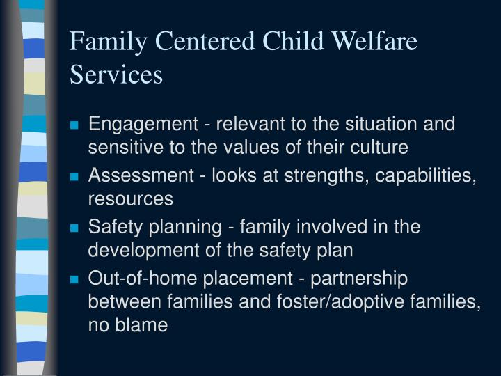 Family Centered Child Welfare Services