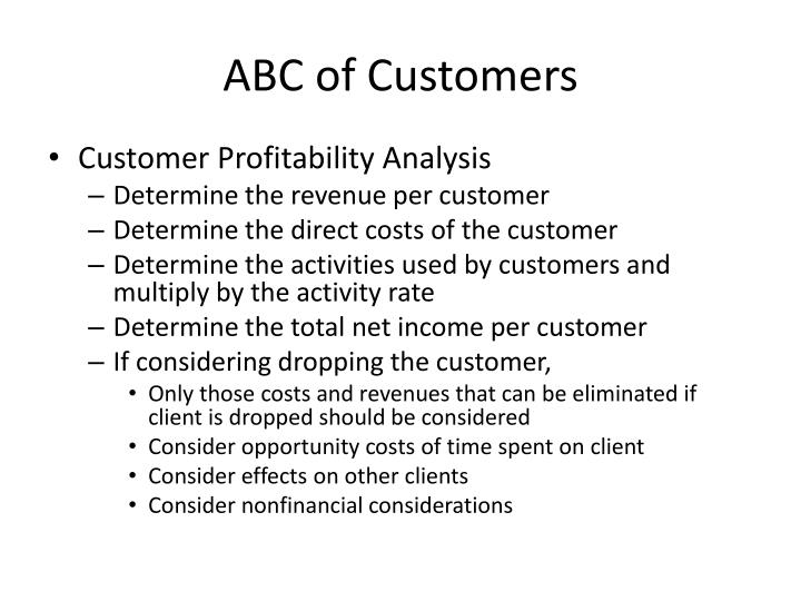 ABC of Customers