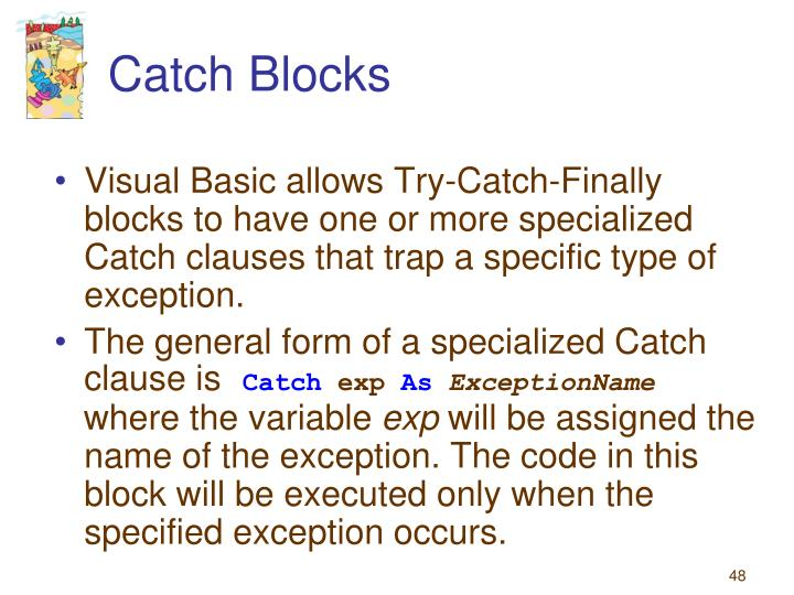 Catch Blocks