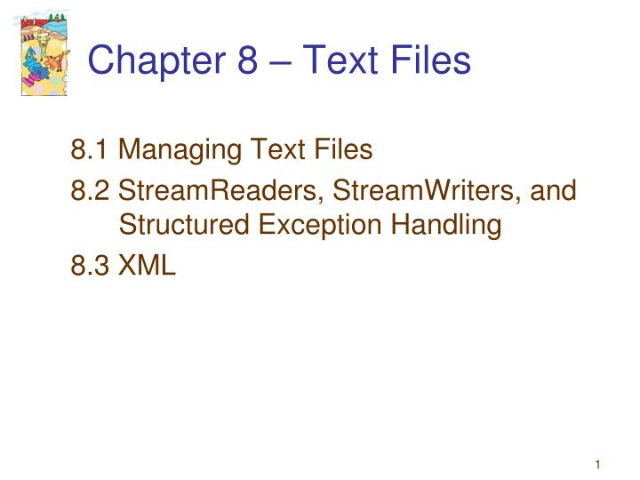 chapter 8 text files