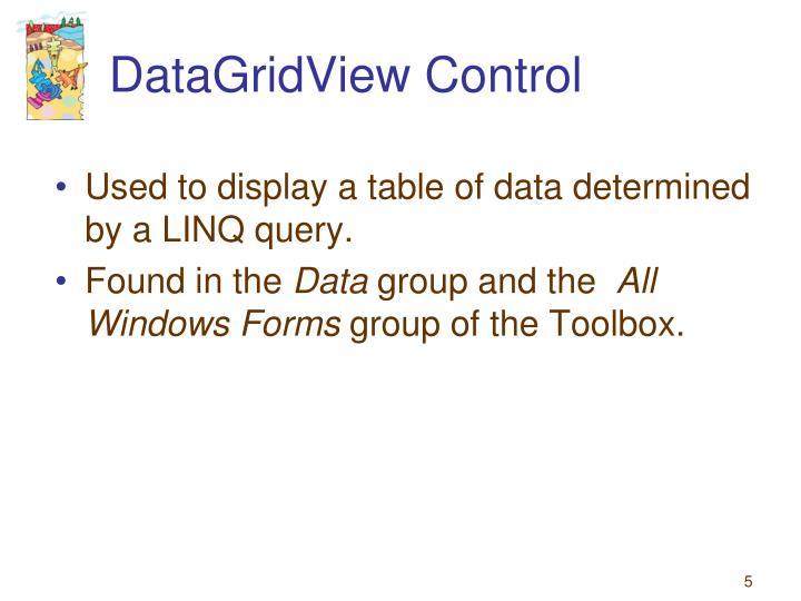 DataGridView Control