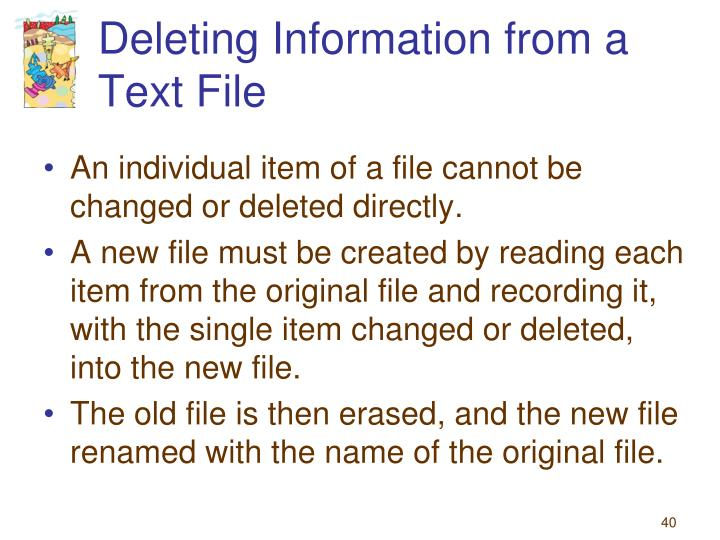 Deleting Information from a Text File
