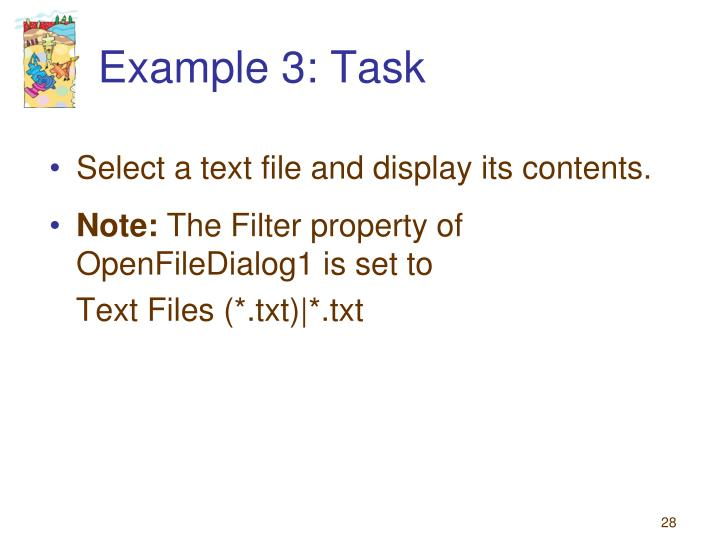 Example 3: Task