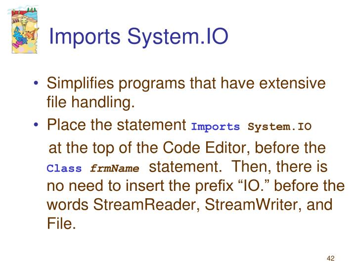 Imports System.IO
