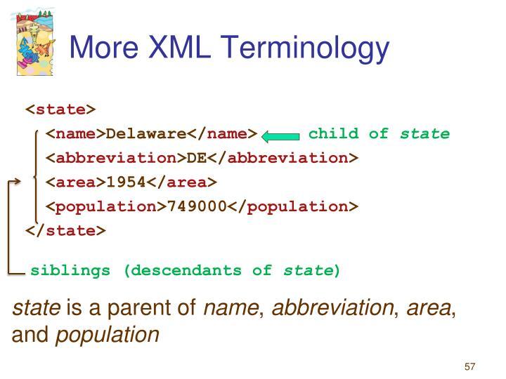 More XML Terminology