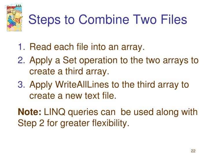Steps to Combine Two Files