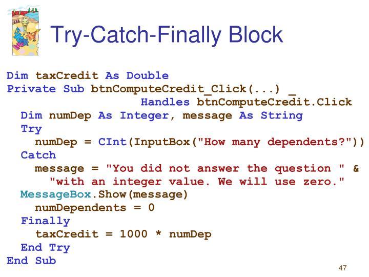 Try-Catch-Finally Block
