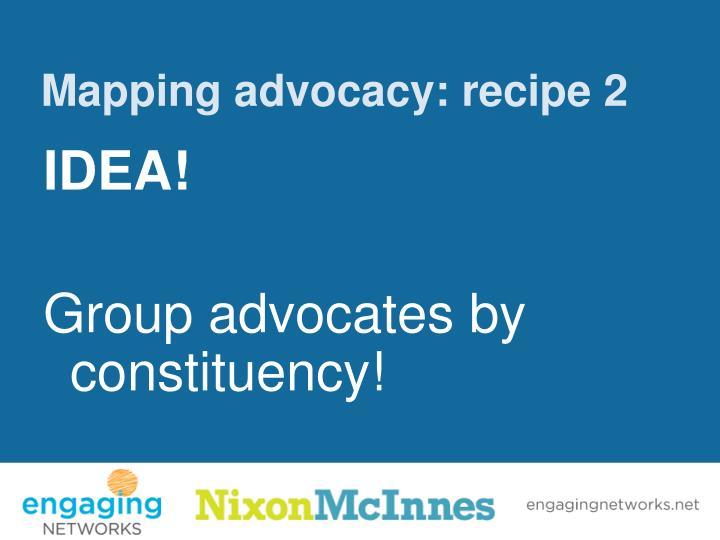 Mapping advocacy: recipe 2