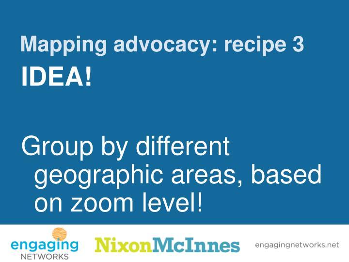 Mapping advocacy: recipe 3