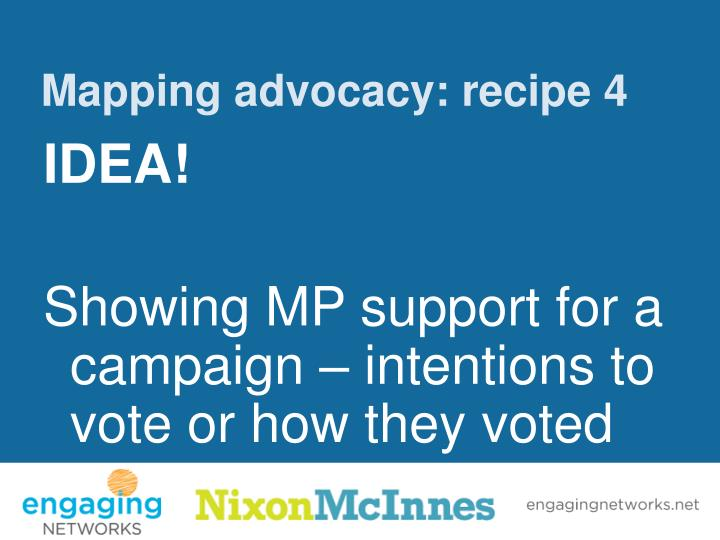 Mapping advocacy: recipe 4