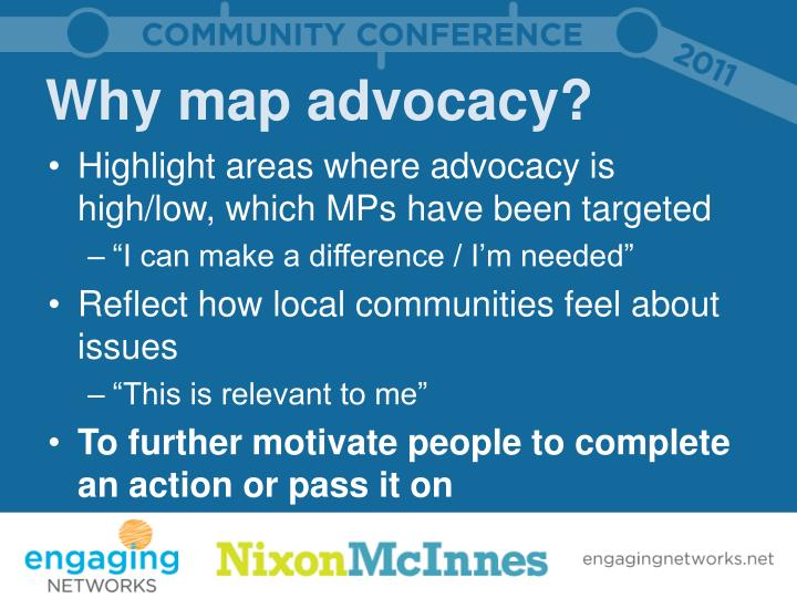 Why map advocacy?