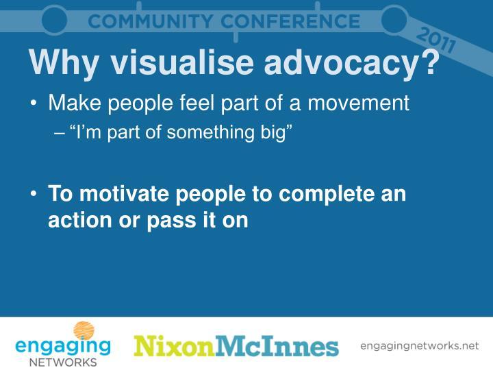 Why visualise advocacy?