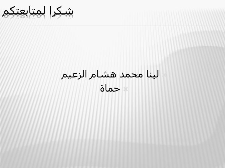لينا محمد هشام الزعيم