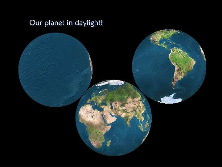 Our planet in daylight