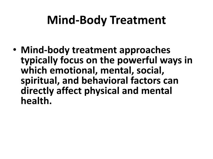 Mind-Body Treatment