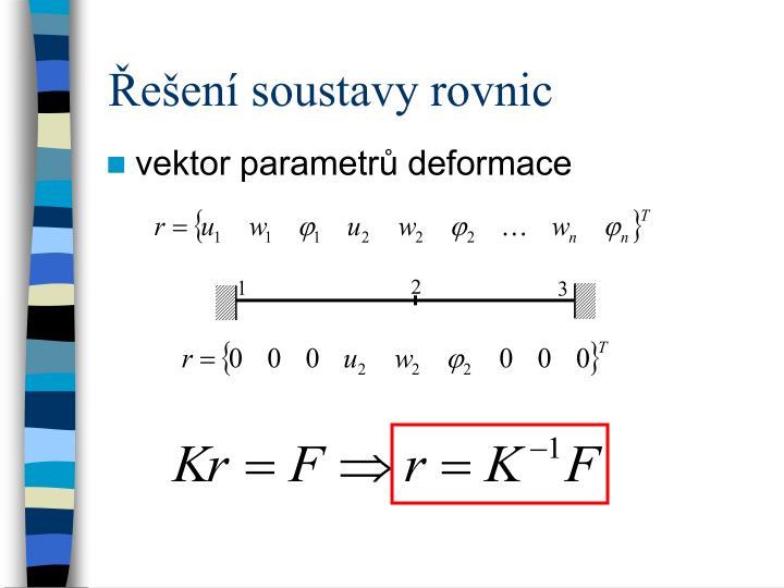 Řešení soustavy rovnic